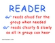 Cooperative Group Roles: Reader