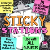 STICKY STATIONS! - 15 Cooperative Learning Assignments usi