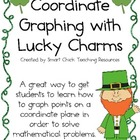 Coordinate Grid Graphing with Lucky Charms Cereal ~ St. Pa