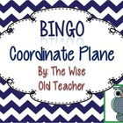 Coordinate Plane Bingo Game PowerPoint with Blank Bingo Ca