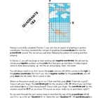 Coordinate Plane Graph Art - Graphing Negatives using Quad
