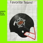 Coordinate Plane Pictures (Football Helmet)