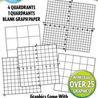 Coordinate Planes and Graphs Clipart  Over 10 Graphics!