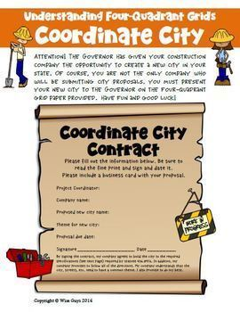 Coordinates City: Creative Math Project Activity (6 pages)