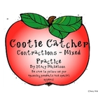Cootie Catcher - Contractions Mixed Practice