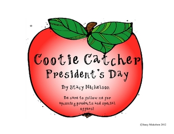 Cootie Catcher - President's Day