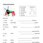 Cooties writing activity