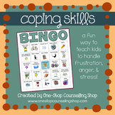 Coping Skills Bingo Game for Anger (2 different versions!)