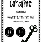 Coraline, by Neil Gaiman, Complete Literature Unit!  100 pages!