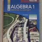 Cord Algebra 1 Volumes 1 and 2 Copyright 2009  Brand New