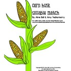 Corn Husk Syllable Match Literacy Center Activity for Than