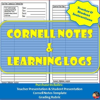 Cornell Notes & Learning Logs- Teacher Instructions Power Point