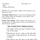 Cornell Notes - Lesson and Materials