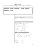 Cornell Notes Quadrilaterals
