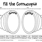 Cornucopia of Nouns and Verbs (Common Core L.2.1a, L.1.1, L.3.1)