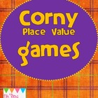 Corny Halloween Place Value Games