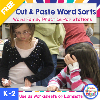 Corrected-Word Sorts-Cut 'n Paste and More-Freebie