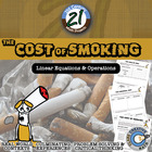 Cost of Smoking -- Linear Equations, Percents & Operations