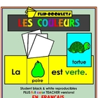 Couleurs (Color Flip Booklets in French)