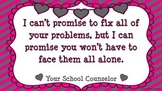 """Counselor's Promise Poster {""""Lovely"""" Theme} FREEBIE!"""