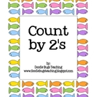 Count by 2&#039;s Fish Cards