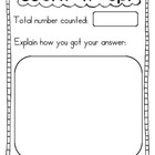 Count it Up Recording Sheet FREEBIE