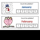 Count the Syllables Months and Days