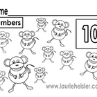 Count the monkeys and color math worksheets
