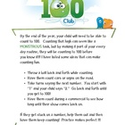 Count to 100 Parent Letter