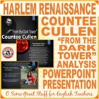 "Countee Cullen ""From the Dark Tower"" Powerpoint"