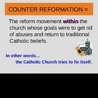 Counter Reformation - PowerPoint