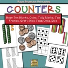 Counters {Coins, Base Ten Blocks, Tally Marks, Ten Frames,