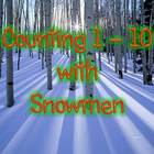 Counting 1 to 10 with Snowmen