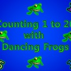 Counting 1 to 20 Activity with Dancing Frogs