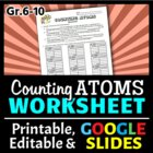 Counting Atoms in Molecules - Worksheet {Editable}