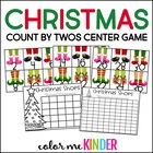 Counting Christmas Shoes by Two's Center Game