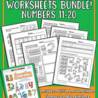Counting Creatures 11-20 Number Workbook