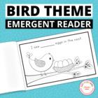Counting Eggs:  Bird Emergent Reader Freebie