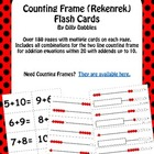 Counting Frame (Rekenrek) Flash Card Set