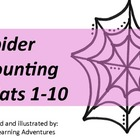 Counting Mats 1-10--Spider Webs & Spiders