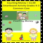 Counting Money &lt; $1.00 Smartboard Activity Grades K-3 Common Core
