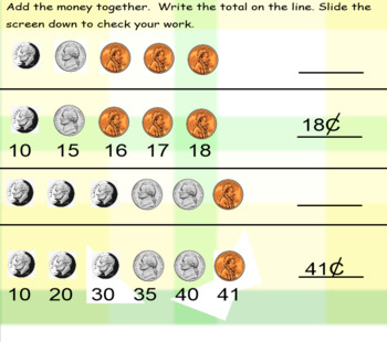 Counting Money < $1.00 Smartboard Activity Grades K-3 Common Core