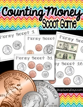 Counting Money Scoot Game