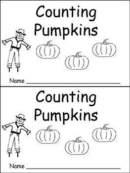 Counting Pumpkins Emergent Reader- Kindergarten or Prescho