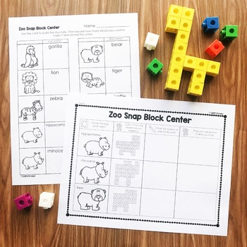 Counting Snap Cubes - Zoo