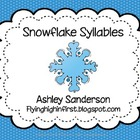 Counting Syllables: Snowflakes