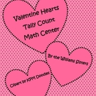 Counting Valentines using Tally Marks Math Center