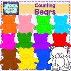 Counting bears clipart