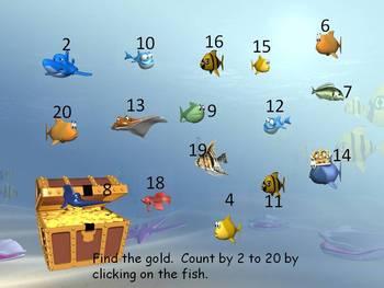 Counting by 2s Interactive PowerPoint Game/Activity with D