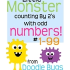 Counting by 2's ODD NUMBERS 1-99 Math Cards